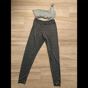 Other - Silver crop top and leggings set
